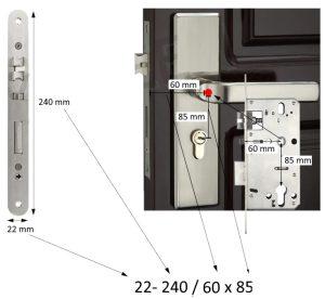 Incuietoare inteligenta TUYA - YX1/22-147/50*50 SKU: YX1/22-240/60*85