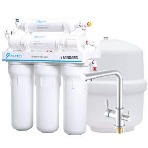 Purificator de apă prin osmoză inversă cu mineralizare ECOSOFT + baterie cu 3 cai SKU: MO550ECOST+bateria 3 cai
