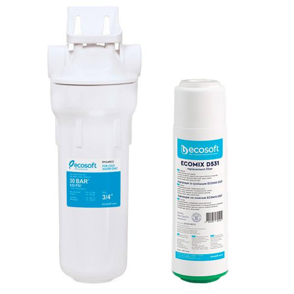 Filtru apa Antibacterian (antichlor, antimangan, antifier) - ECOSOFT SKU: SET-CRV2510ECO